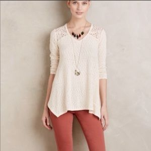 Anthropologie: Lace Tunic XS